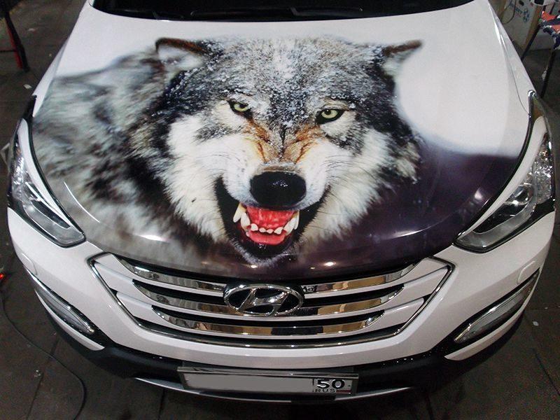 картинки волк на капот авто прямые
